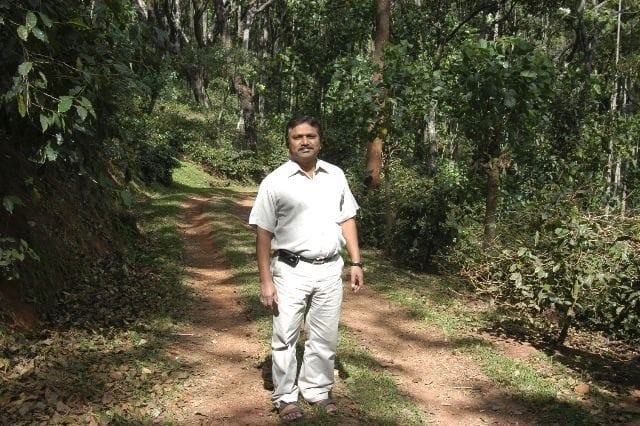 Mr. Shankar, Farm Manager and Partner of Kalledevarapura. Kalledevarapura is owned by the Shankar and Puresh families. Photo courtesy of our strategic partner in sourcing the most exquisite of Indian coffees, Dr. Joseph John